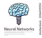 neural networks creative logo... | Shutterstock .eps vector #1036495954