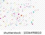 colorful explosion of confetti. ... | Shutterstock .eps vector #1036498810