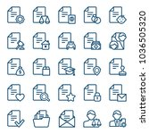 set of document icons. vector... | Shutterstock .eps vector #1036505320