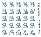 set of document icons. vector... | Shutterstock .eps vector #1036505320
