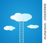 illustration of a ladder... | Shutterstock .eps vector #1036505830