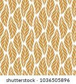 vector leaf seamless pattern.... | Shutterstock .eps vector #1036505896