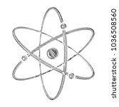 rustic gray stone atomic symbol ... | Shutterstock . vector #1036508560