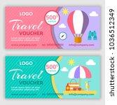 gift voucher template. vector... | Shutterstock .eps vector #1036512349
