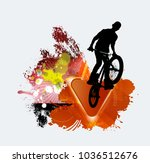 silhouette of bicycle jumper | Shutterstock .eps vector #1036512676