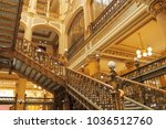 interior view of the postal... | Shutterstock . vector #1036512760