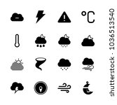 icons weather with wind ... | Shutterstock .eps vector #1036513540