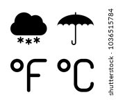 icons weather with opened... | Shutterstock .eps vector #1036515784