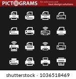 print web white icons for user... | Shutterstock .eps vector #1036518469