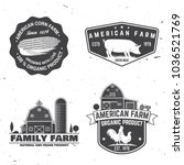 american farm badge or label.... | Shutterstock .eps vector #1036521769