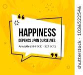 vector quotation. happiness... | Shutterstock .eps vector #1036522546