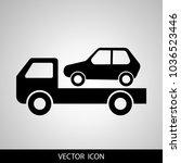 car towing truck vector... | Shutterstock .eps vector #1036523446