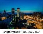 view of the lights of moscow... | Shutterstock . vector #1036529560