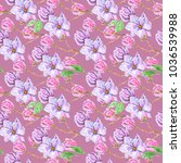 seamless background  floral... | Shutterstock . vector #1036539988