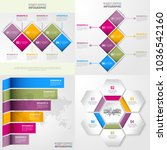 set of business infographics ... | Shutterstock .eps vector #1036542160