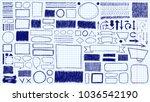 doodles set. scribble... | Shutterstock .eps vector #1036542190