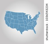 united states of america map.... | Shutterstock .eps vector #1036543234
