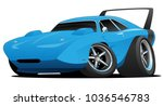 classic american muscle car hot ... | Shutterstock .eps vector #1036546783