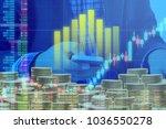 businessman on digital stock...   Shutterstock . vector #1036550278