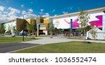 metricon stadium ready to... | Shutterstock . vector #1036552474