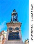 giiordano bruno statue campo de'... | Shutterstock . vector #1036554604