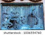 giiordano bruno speaking statue ... | Shutterstock . vector #1036554760