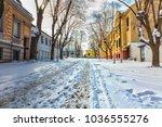the old street in belgrade... | Shutterstock . vector #1036555276