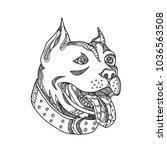 doodle art illustration of head ... | Shutterstock .eps vector #1036563508