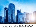 urban building skyscrapers in... | Shutterstock . vector #1036566340