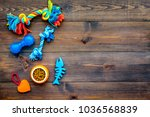 pet accessories. toys for cat... | Shutterstock . vector #1036568839