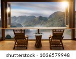 beautiful landscape at cafe... | Shutterstock . vector #1036579948