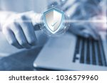security concept  freelance... | Shutterstock . vector #1036579960