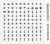 award icons set | Shutterstock .eps vector #1036583980