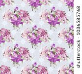 seamless floral pattern with... | Shutterstock .eps vector #1036585768