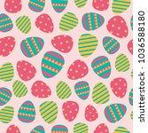 beautiful color easter egg... | Shutterstock .eps vector #1036588180