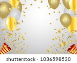 balloons collection. holiday... | Shutterstock .eps vector #1036598530