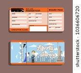 bus ticket liberty journey | Shutterstock .eps vector #1036606720