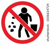 it is forbidden to throw...   Shutterstock .eps vector #1036614724