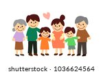pregnant woman and three...   Shutterstock . vector #1036624564