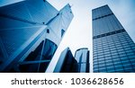 directly below of modern office ... | Shutterstock . vector #1036628656