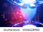 abstract technology background... | Shutterstock . vector #1036628983