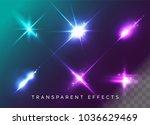 set of transparent light... | Shutterstock .eps vector #1036629469