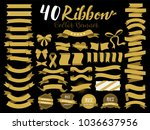 40 gold ribbon vector... | Shutterstock .eps vector #1036637956