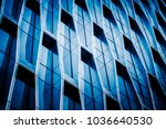 detail of modern glass building ... | Shutterstock . vector #1036640530