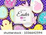 easter sale. background of... | Shutterstock . vector #1036642594