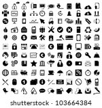 vector illustration of various... | Shutterstock .eps vector #103664384