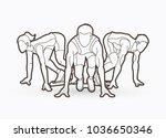 people run  runner  marathon... | Shutterstock .eps vector #1036650346
