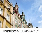 an old city in the center of... | Shutterstock . vector #1036652719