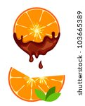 chocolate orange | Shutterstock .eps vector #103665389