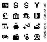 solid vector icon set   safe... | Shutterstock .eps vector #1036655086